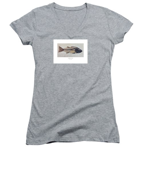 Fossil Fish Women's V-Neck (Athletic Fit)