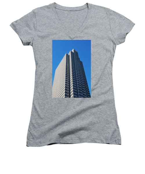 Four Embarcadero Center Office Building - San Francisco - Vertical View Women's V-Neck T-Shirt (Junior Cut)