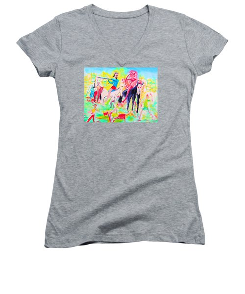 Four Horsemen Women's V-Neck (Athletic Fit)