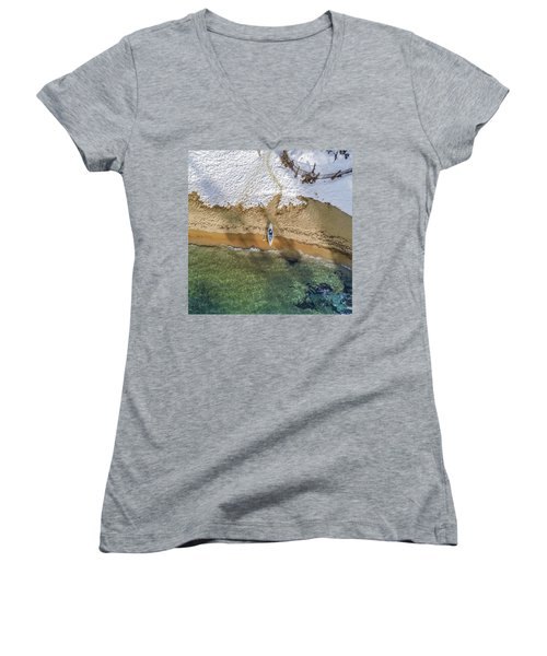 Four Seasons Women's V-Neck T-Shirt (Junior Cut) by Alpha Wanderlust