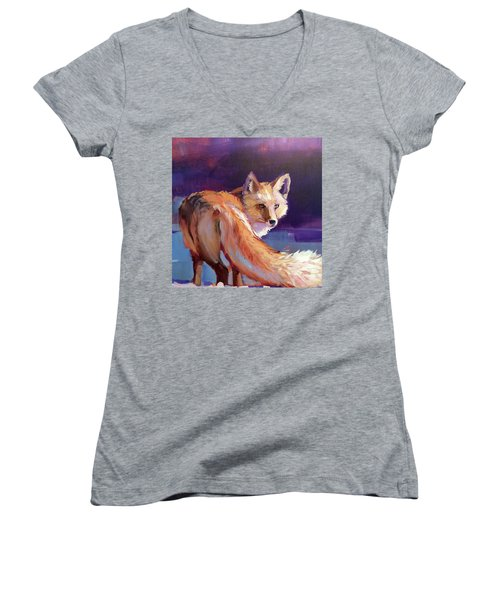 Fox 1 Women's V-Neck T-Shirt