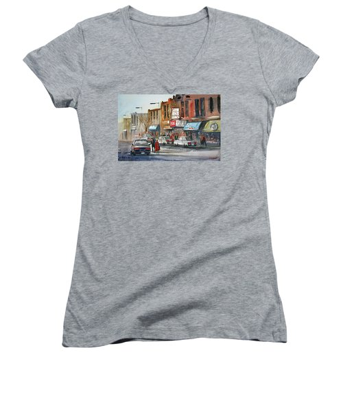 Fox Theater - Steven's Point Women's V-Neck (Athletic Fit)