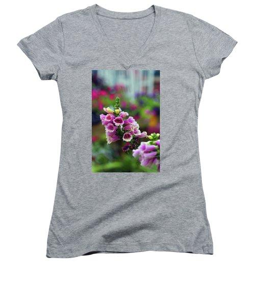 Foxglove 1154 H_2 Women's V-Neck T-Shirt