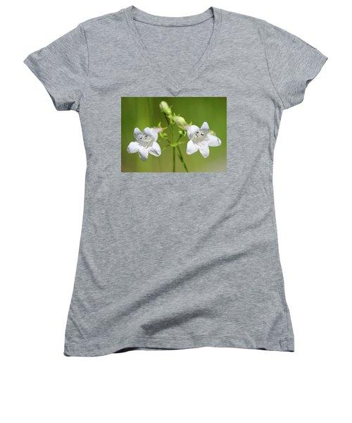 Foxglove Beardtongue Women's V-Neck T-Shirt