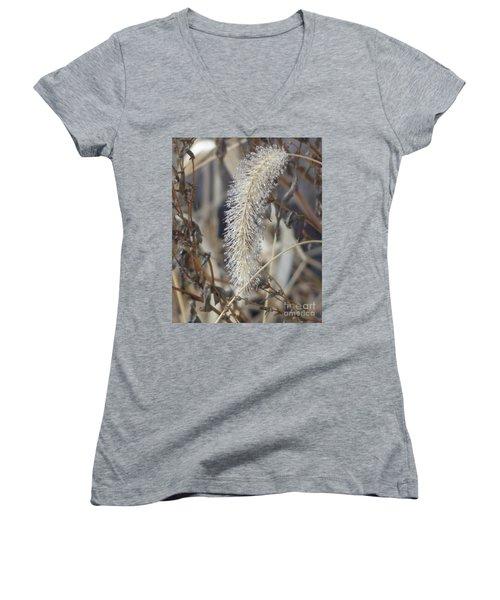 Foxtail Fur Women's V-Neck