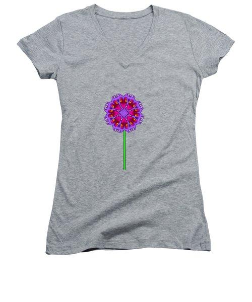 Fractal Flower Garden Flower 01 Women's V-Neck (Athletic Fit)