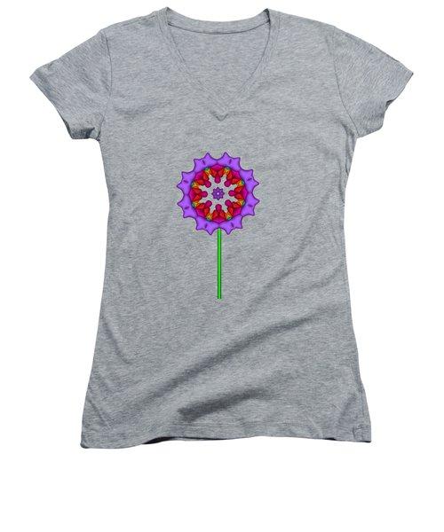 Fractal Flower Garden Flower 02 Women's V-Neck (Athletic Fit)