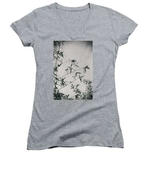 Women's V-Neck T-Shirt featuring the photograph Fragility And Strength by Linda Lees