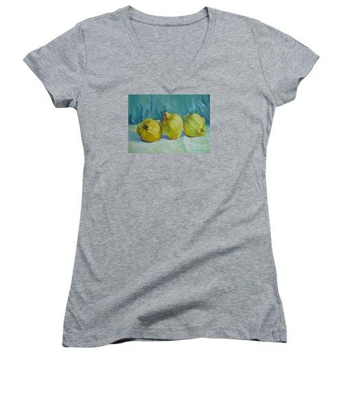 Fragrance Of Autumn Women's V-Neck T-Shirt (Junior Cut) by Elena Oleniuc