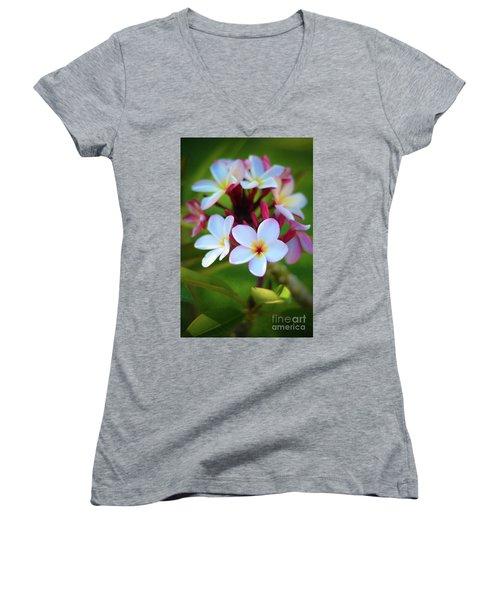Fragrant Sunset Women's V-Neck T-Shirt (Junior Cut) by Kelly Wade