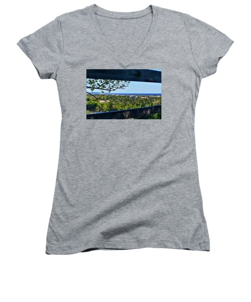 Framed View Women's V-Neck