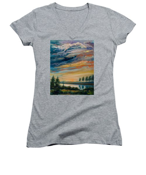 France IIi Women's V-Neck T-Shirt