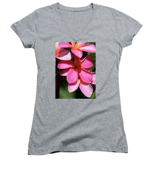 Frangipani Women's V-Neck T-Shirt