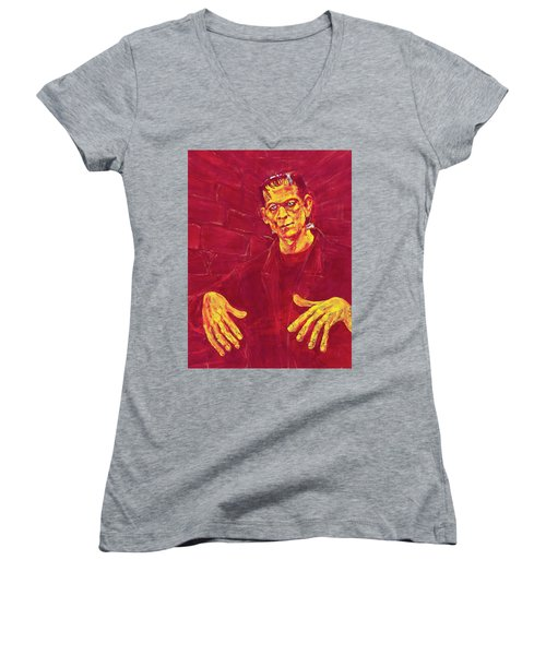 Frankenstein's Monster 1931 Women's V-Neck T-Shirt