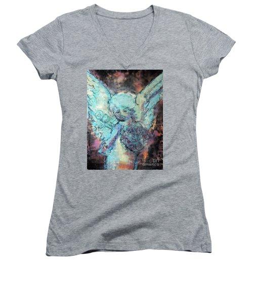Franklin Angel Women's V-Neck T-Shirt