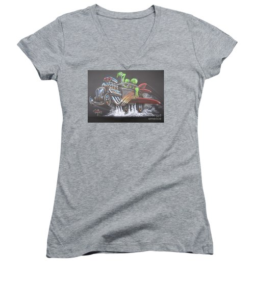 Freakwentflying Women's V-Neck (Athletic Fit)