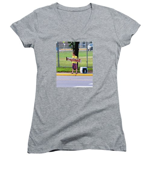 Free Kittens Women's V-Neck