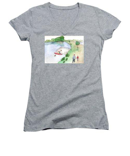 Free Time Women's V-Neck T-Shirt