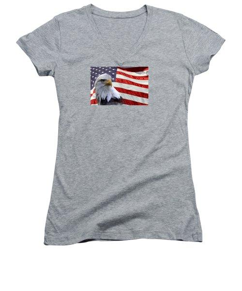Freedom Women's V-Neck T-Shirt (Junior Cut) by Ann Bridges