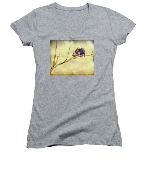 Women's V-Neck T-Shirt (Junior Cut) featuring the photograph Freedom by James BO Insogna