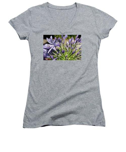 Women's V-Neck T-Shirt (Junior Cut) featuring the photograph French Quarter Floral by KG Thienemann