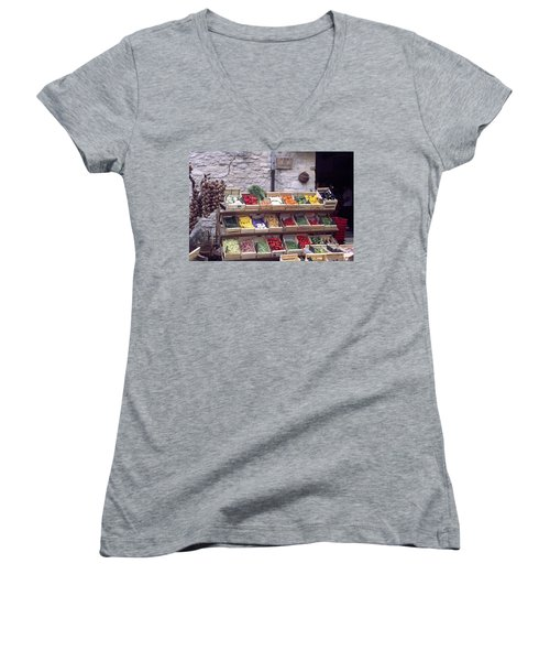 French Vegetable Stand Women's V-Neck