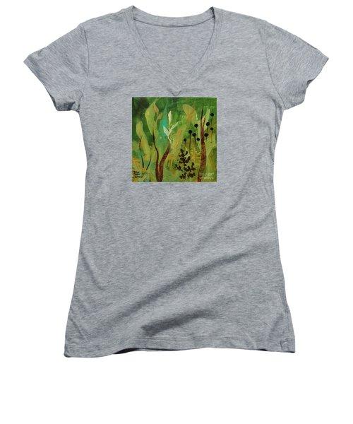 Fresh Air  Women's V-Neck T-Shirt (Junior Cut) by Robin Maria Pedrero