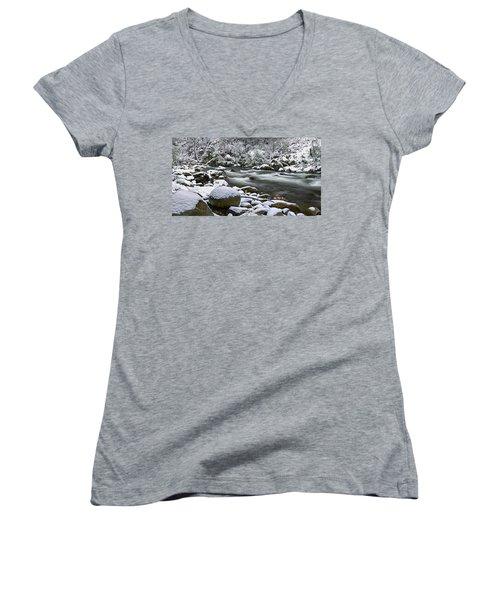 Fresh Women's V-Neck T-Shirt (Junior Cut) by Mark Lucey