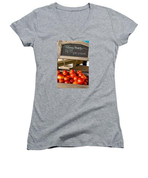 Fresh The Garden Tomatoes Women's V-Neck