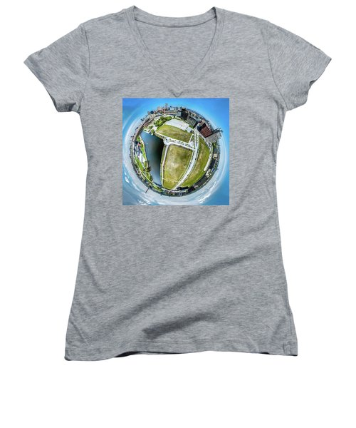 Freshwater Way Little Planet Women's V-Neck (Athletic Fit)