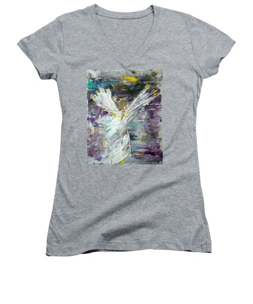 Friends Are Angels Women's V-Neck