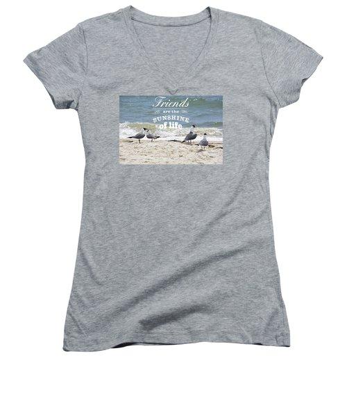 Friends In Life Women's V-Neck T-Shirt