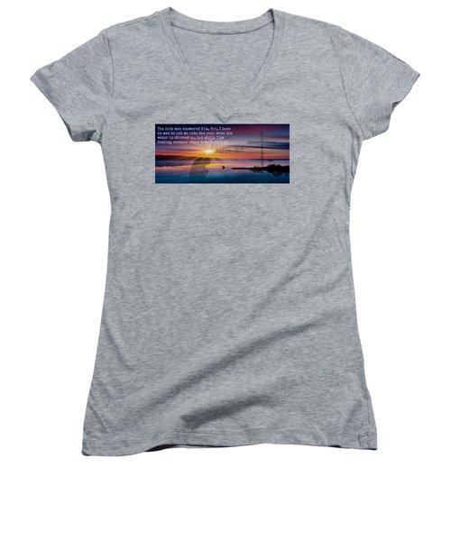Friendship207 Women's V-Neck T-Shirt (Junior Cut) by David Norman