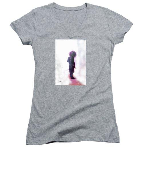 Frightdome Clown Women's V-Neck T-Shirt