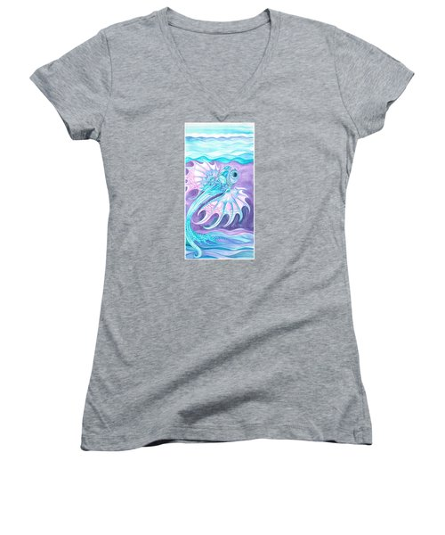Frilled Fish Women's V-Neck T-Shirt (Junior Cut) by Adria Trail