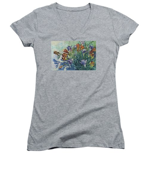 Frishias Women's V-Neck T-Shirt