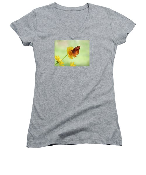 Fritillary Fun Women's V-Neck T-Shirt