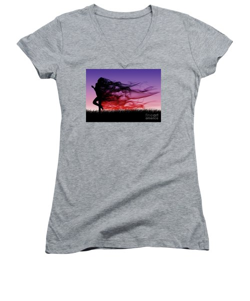 Frolicking Through The Meadow Women's V-Neck (Athletic Fit)