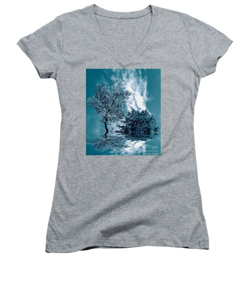 Frollicking Women's V-Neck T-Shirt (Junior Cut) by Elfriede Fulda