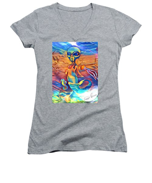 From A World Inside Of Another Women's V-Neck (Athletic Fit)