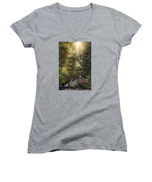 From Above Women's V-Neck T-Shirt (Junior Cut) by James Heckt