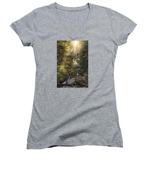 From Above Women's V-Neck T-Shirt (Junior Cut)