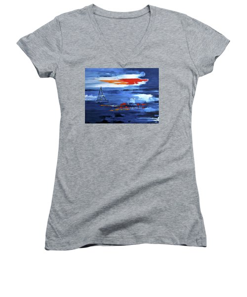 From Cleveland Point Women's V-Neck T-Shirt