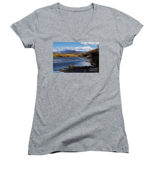 From The Salt Women's V-Neck T-Shirt (Junior Cut) by Kathy McClure