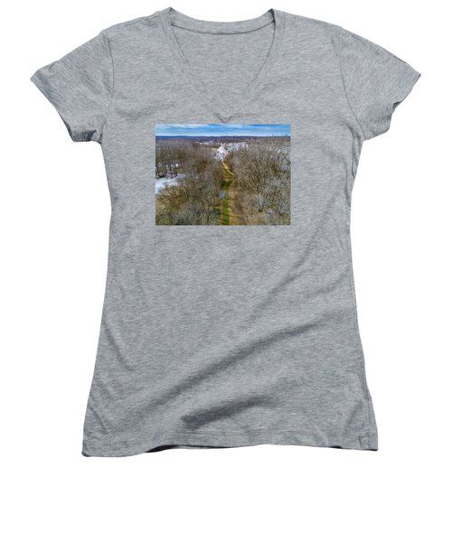 From Woods To Snow Women's V-Neck (Athletic Fit)