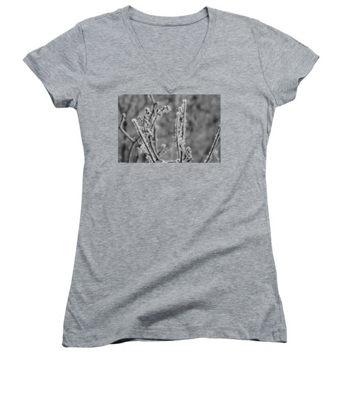 Women's V-Neck featuring the photograph Frost 1 by Antonio Romero