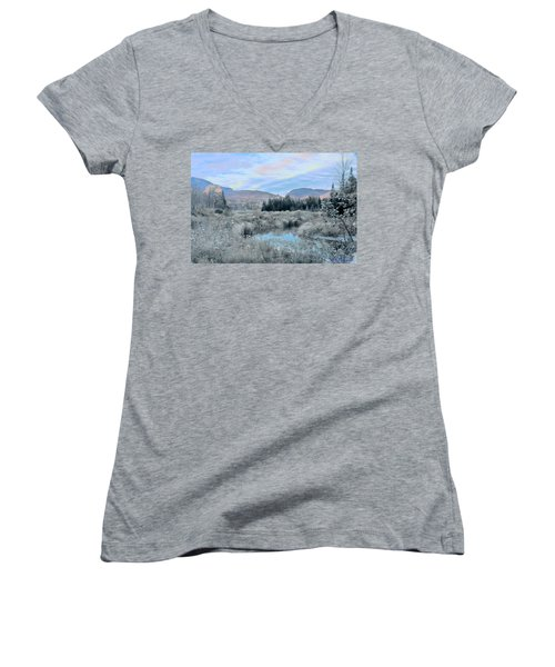 Frost On The Bogs Women's V-Neck (Athletic Fit)
