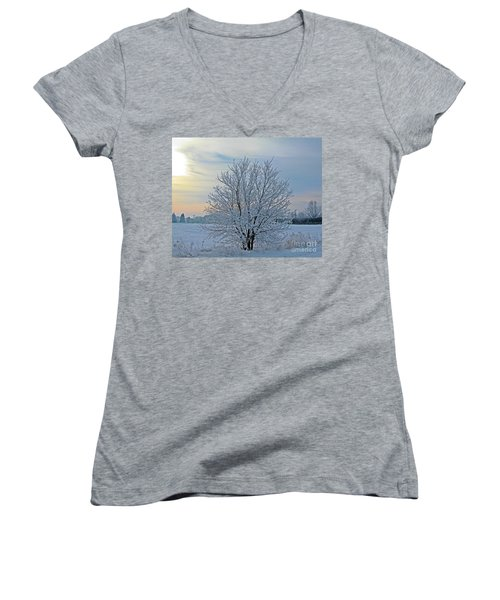 Frosted Sunrise Women's V-Neck (Athletic Fit)
