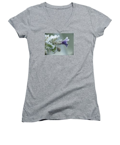 Frosty Flower Women's V-Neck (Athletic Fit)