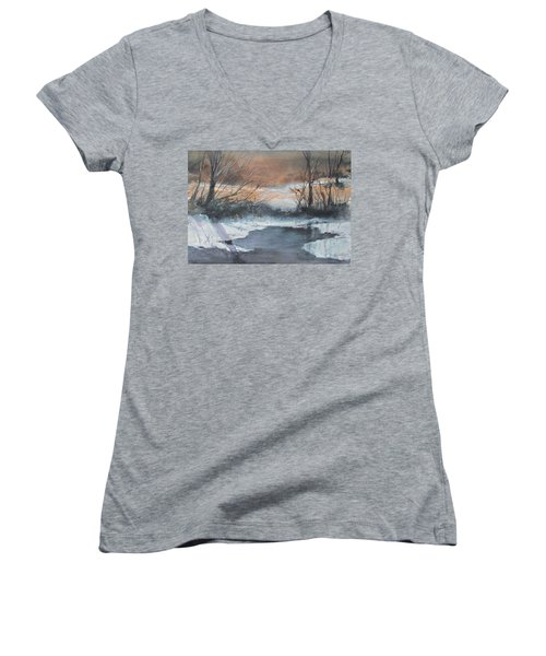 Frosty Morn. Women's V-Neck T-Shirt